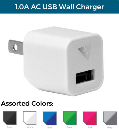 1.0A AC USB Wall Charger