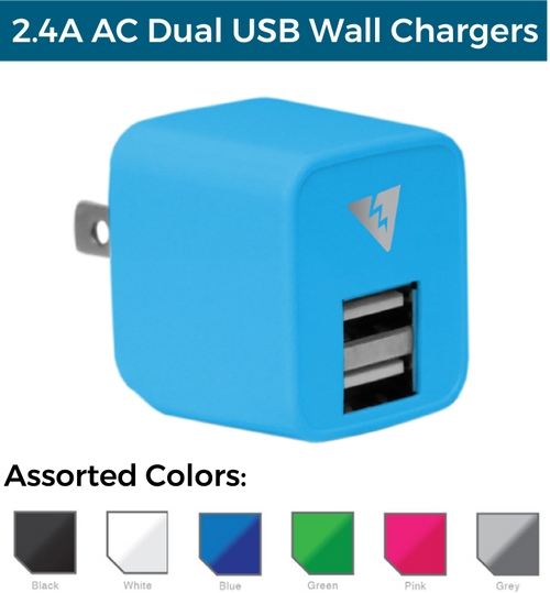 2.4A Dual USB AC Wall Charger