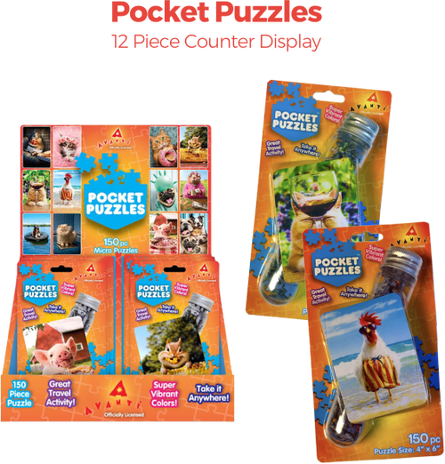Pocket Puzzles - 12 pc Counter Display