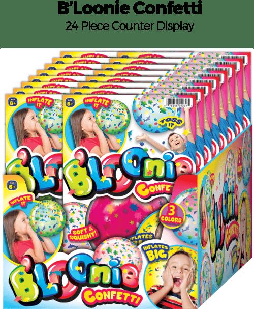B'Loonie Confetti - 24pc Counter Display