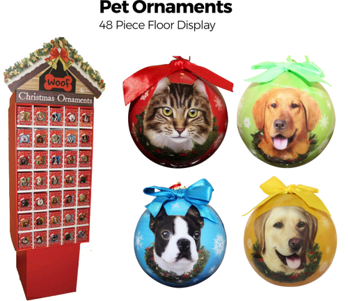 Pet Ornaments Floor Display - 48 pc