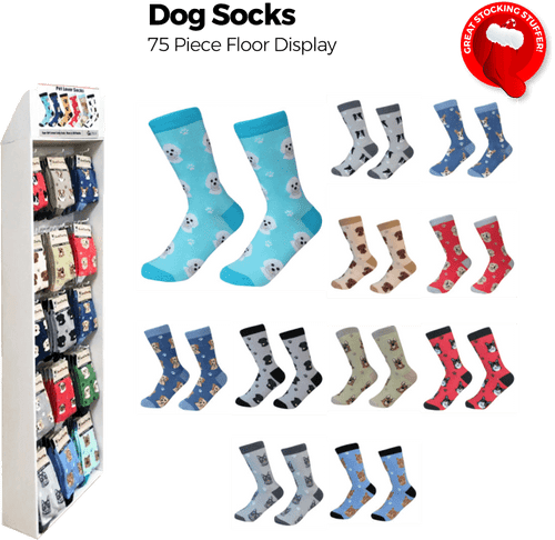 Dog Socks Shipper - 75 pc