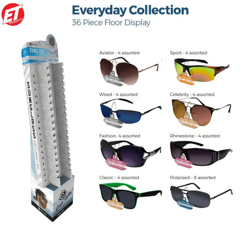 Sunglasses Everyday Shipper - 36 ct