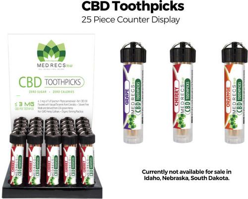 CBD Toothpicks - 25 ct