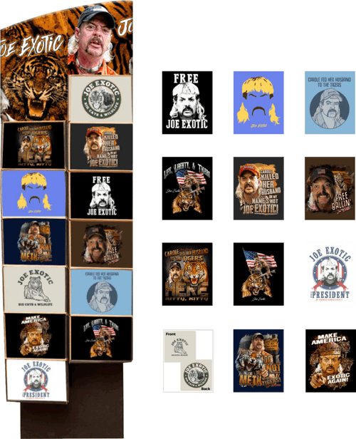 Tiger King T-Shirts Floor Display - 48 pc
