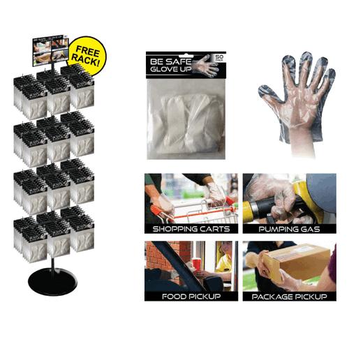 Be Safe Gloves Spinner Rack - 288 pc