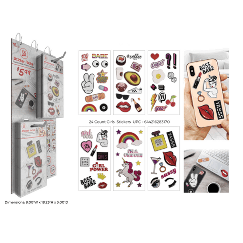 100 Trendz Sticker Pack - 48 ct