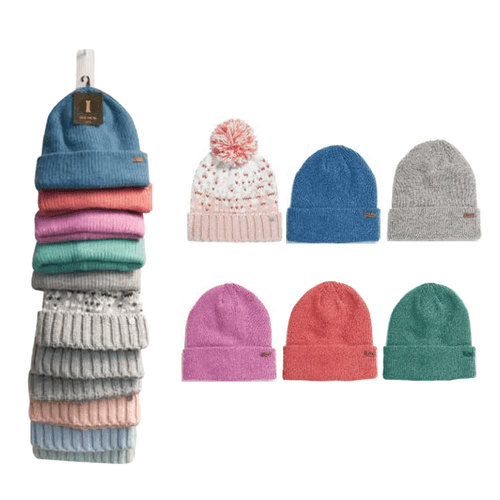 Igloos Ladies Hats Clip Strip - 12 pc