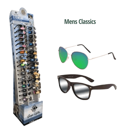 Mens Classic Sunglasses Floor Display - 36 pc