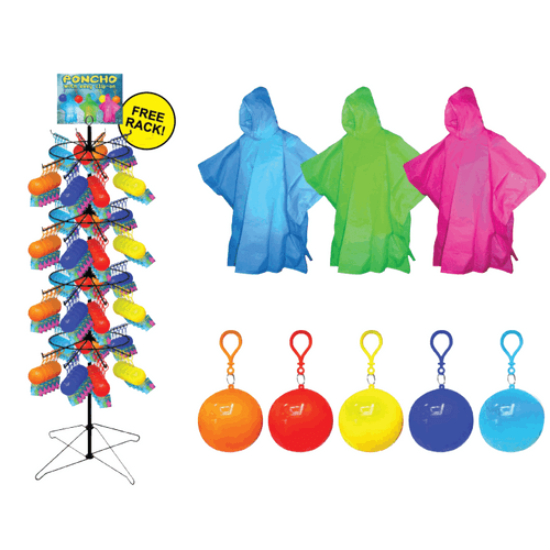 Poncho w/ Clip-On Floor Display - 240 pc