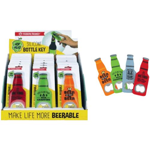 Hop Head Silicone Bottle Key Display - 24 ct