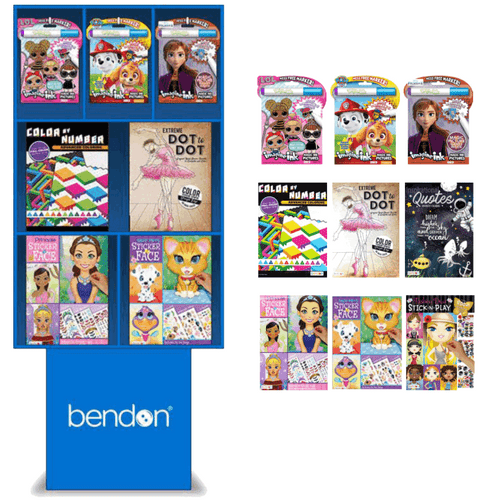 Bendon Activity Books Floor Display - 90 pc