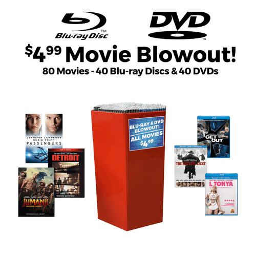 Movie Blowout Bin - 80 pc
