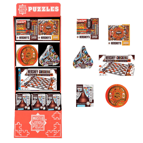 Hershey's Puzzles and Games Floor Display - 26 pc