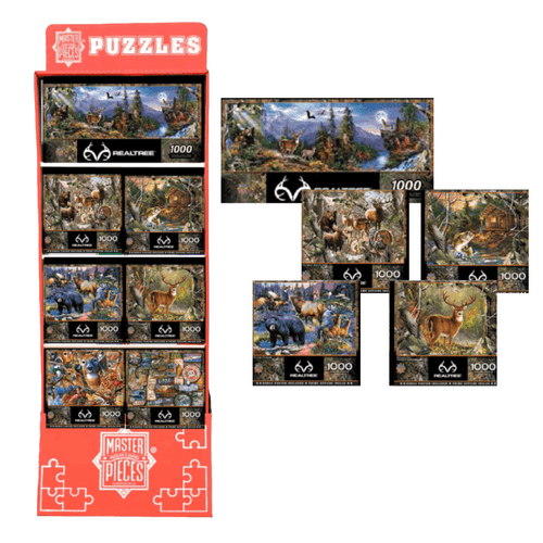 Realtree Puzzles Floor Display - 28 pc