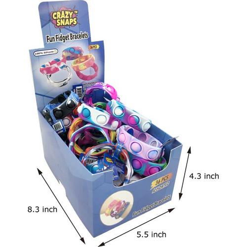 Crazy Snap Bracelets Fidget Counter Display