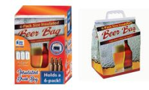 Insulated 6 Pack Beer Bag 25ct Display