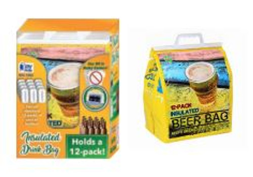 Insulated 12 Pack Beer Bag 25ct Display