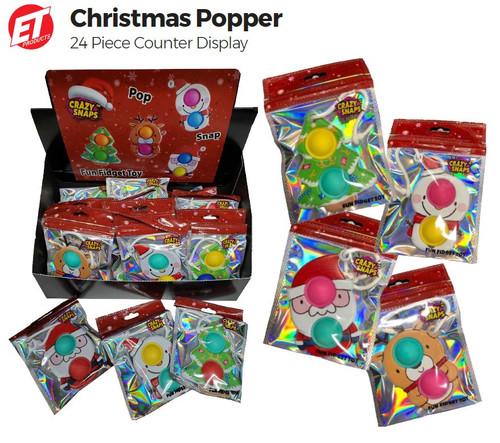Christmas Popper Toy Crazy Snap Fidget Fun Toy