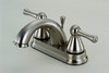 136044 Two Handle Lavatory Faucet, Satin Nickel