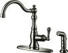 Single Handle  Faucet with Spray, Brushed Nickel
