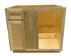 Kitchen Blind Corner Base Cabinet | Unfinished Poplar | Shaker Style | 42""