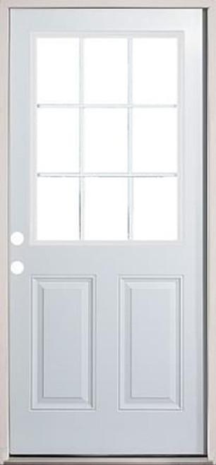 30 32 36 9 Lite Exterior Door Prehung