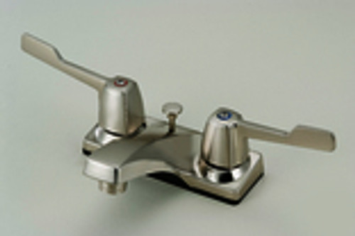 136129 Two Handle Lavatory Faucet, Satin Nickel