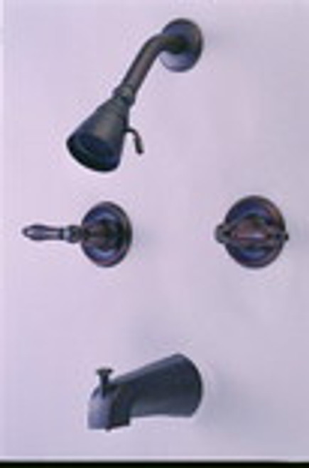 Tub and Shower Faucet, Classic Bronze