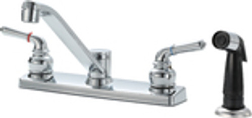 213752 Two Handle  Faucet with Spray, Chrome