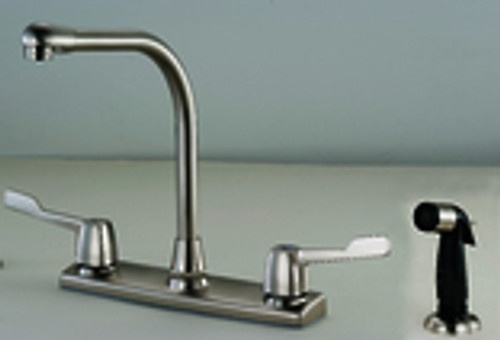 136792 Two Handle  Faucet with Spray, Satin Nickel
