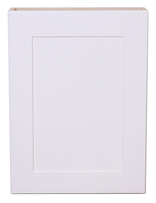 White Shaker Maple Mullion Door Wall Cabinet