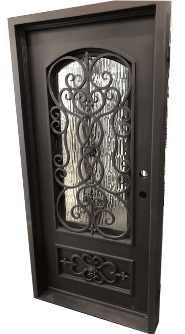 "3'0""X6'8"" Daisy Exterior Wrought Iron Door"