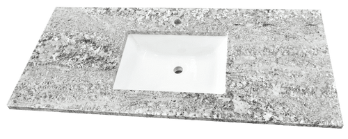 3CM Single Bathroom Vanity Granite Countertop | Bianco Antico