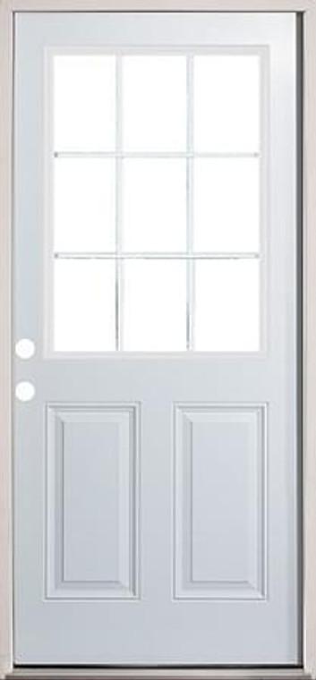 """30"""", 32"""", 36"""" 9 Lite Exterior Door prehung"""