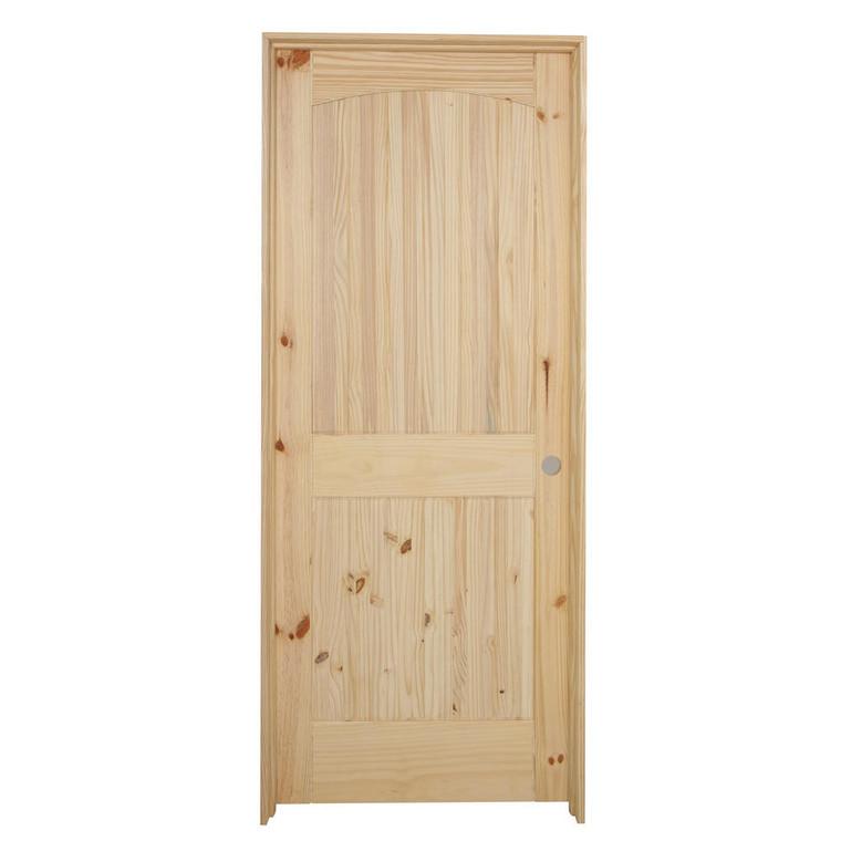 32 in x 80 in Cheyenne Knotty Pine Solid Core Prehung Interior Door