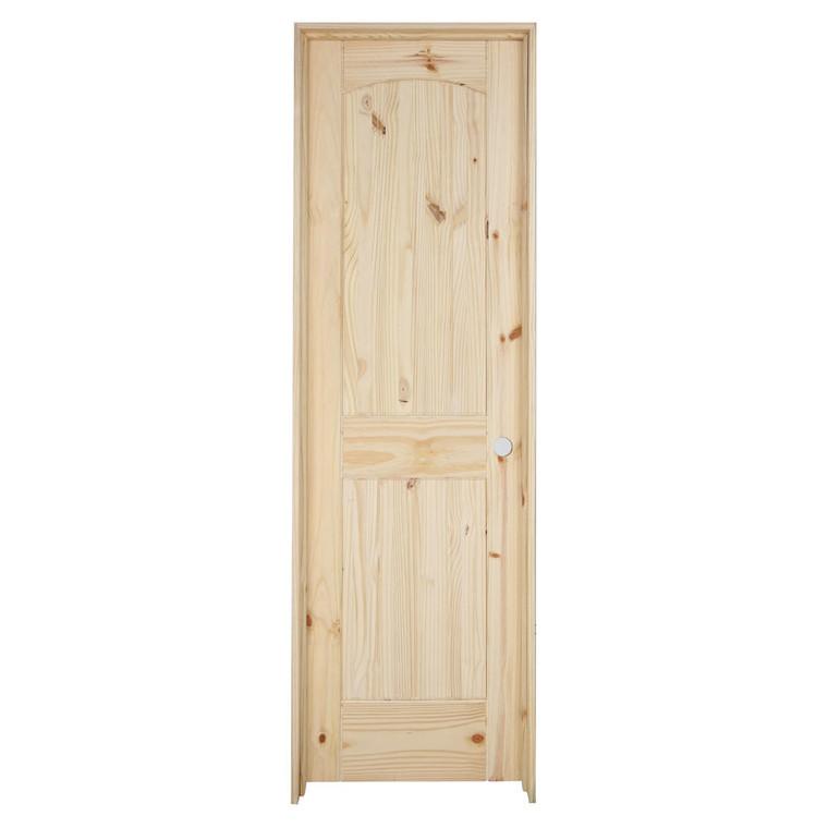 24 in x 80 in Cheyenne Knotty Pine Prehung Interior Door
