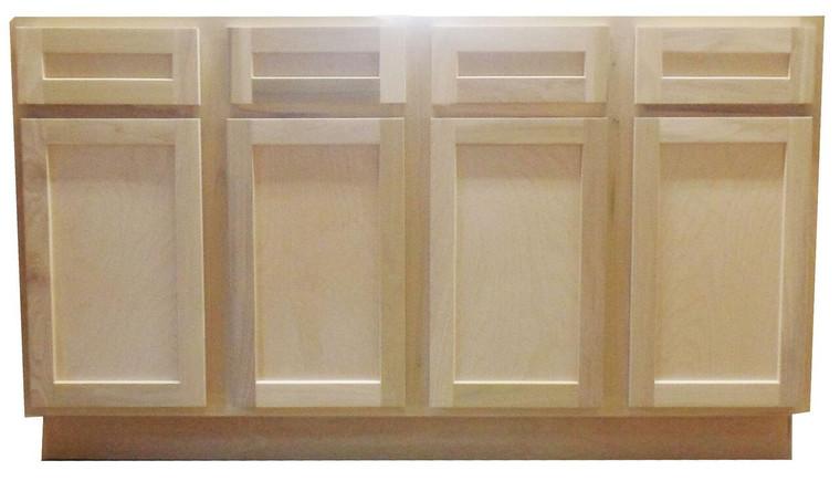 60 in Single Sink Bathroom Vanity Cabinet in Unfinished Poplar or Shaker Style