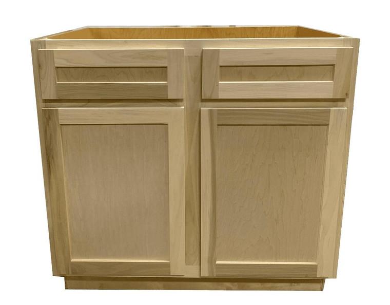 Kitchen Sink Base Cabinet or Unfinished Poplar or Shaker Style or 42