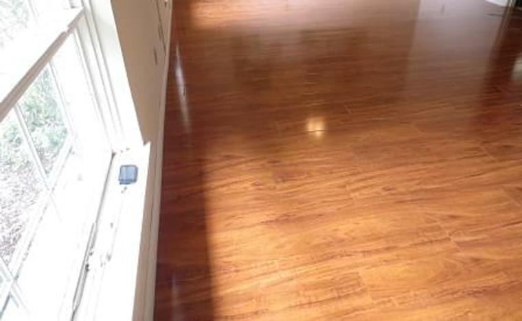 Summer Honey 12mm Laminate Flooring Installed