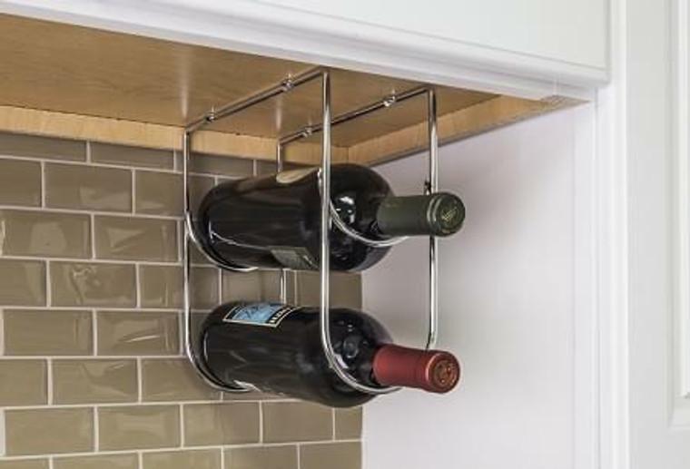 Wine Bottle Holder in Polished Chrome