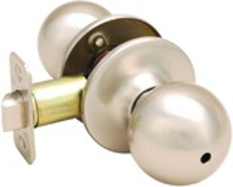 Helena Knob Privacy Door Handle, Satin Nickel