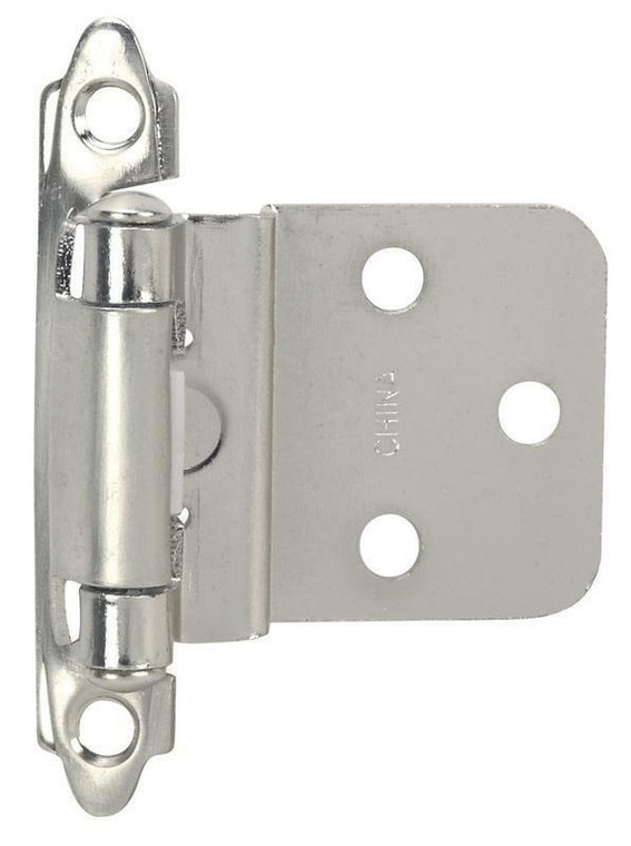 Hardware House Contractor Pack Inset Cabinet Hinge 5-Pairs, Satin Nickel