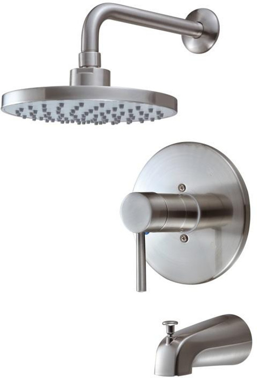 Hardware House 135627 Tub and Shower Mixer, Brushed Nickel