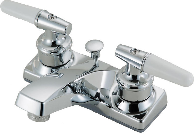 Hardware House 124249 Two Handle Lavatory Faucet, Chrome