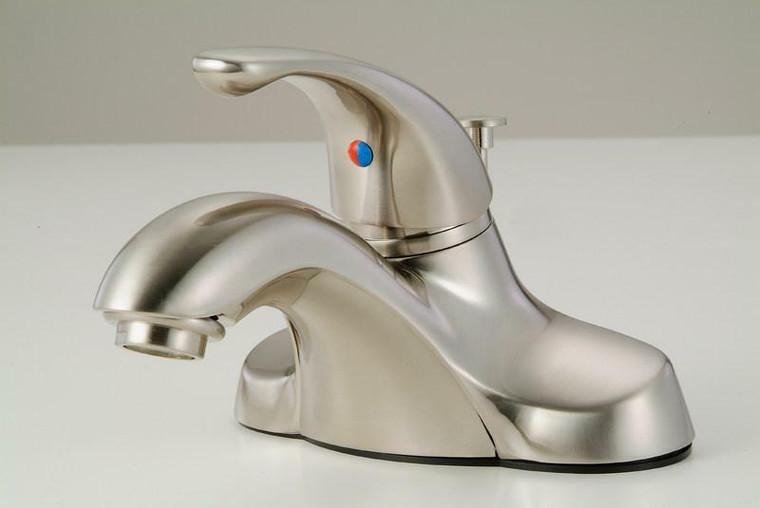 Hardware House Single Handle Lavatory Faucet, Satin Nickel