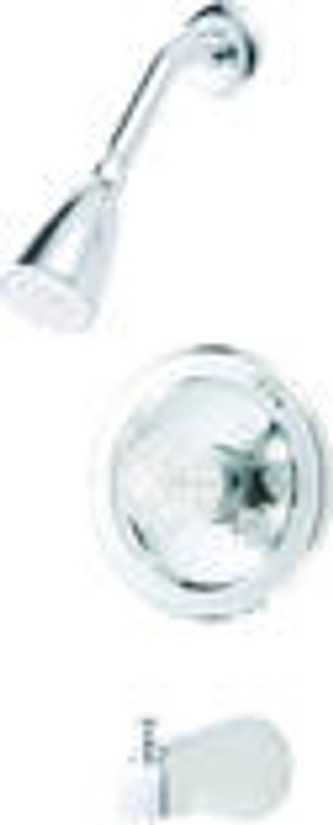 Hardware House 125567 Tub and Shower Faucet, Chrome