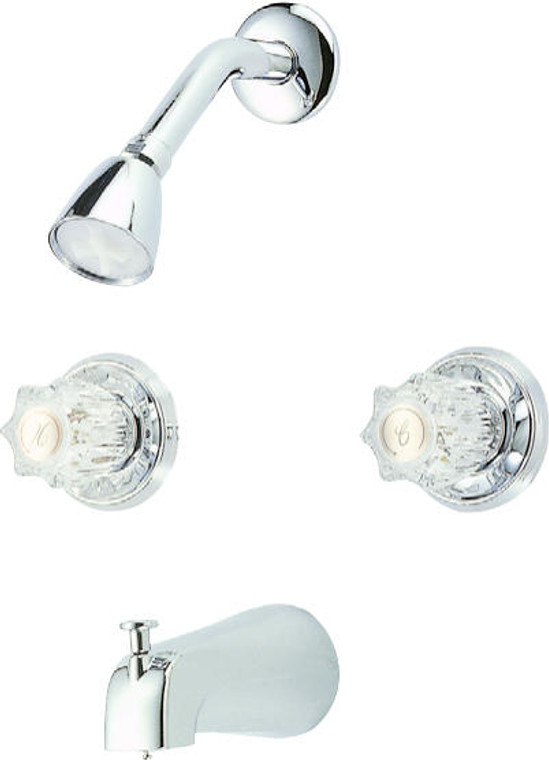 Hardware House 126069 Tub and Shower Faucet, Chrome