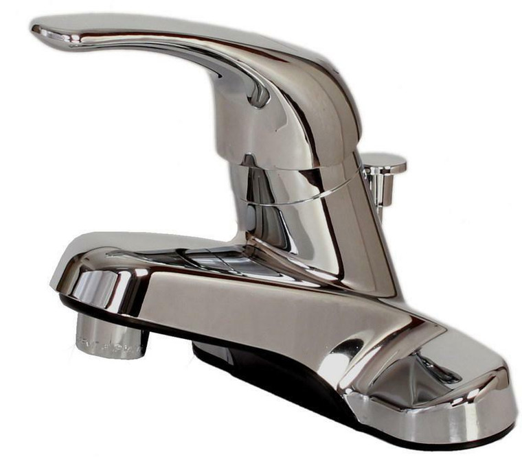 Hardware House Non-Metallic Single Handle Faucet with Pop Up, Chrome