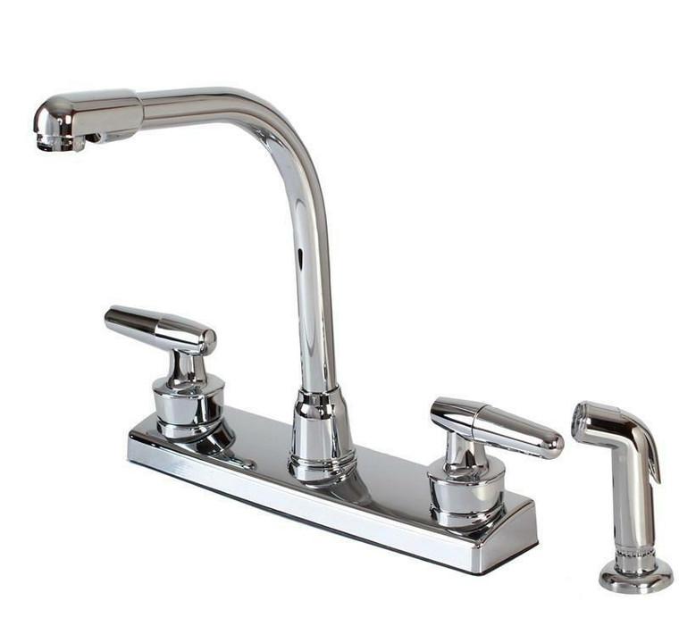 Hardware House 121927 Non-Metallic Two Handle Kitchen Faucet, Chrome